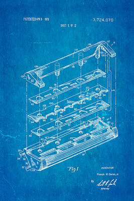 Dorion Twin Blade Razor Patent Art 1973 Blueprint Art Print