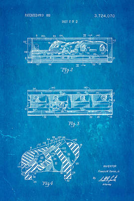 Dorion Twin Blade Razor Patent Art 2 1973 Blueprint Art Print