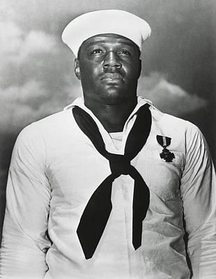 Doris Dorie Miller Was Awarded The Navy Art Print by Everett