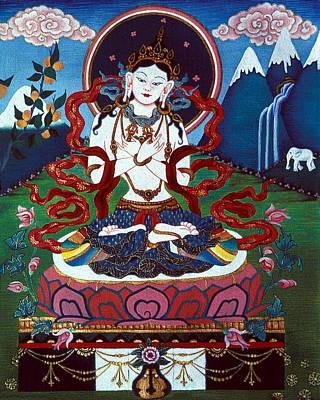 Bhutan Painting - Dorje Sempa by Deirdre Donovan