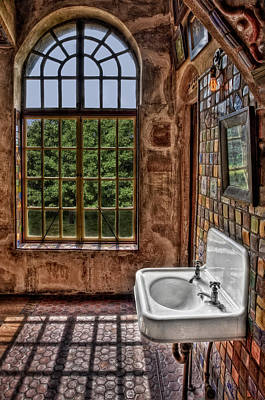 Mansions Photograph - Dorm Bathroom Side View by Susan Candelario