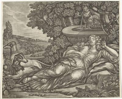 Dormant Diana, Possibly Jan Van Somer Art Print