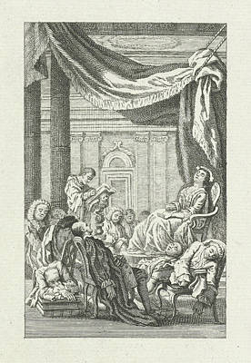 Dormant Figures Under A Canopy, Jacob Folkema Art Print
