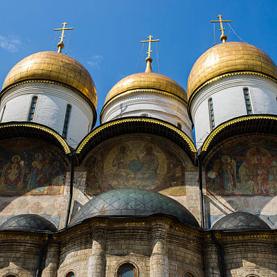 Dormition Cathedral - Square Art Print by Alexander Senin