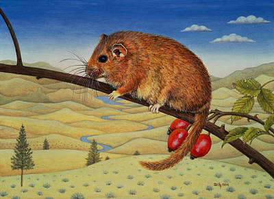 Dormouse Number Two, 1994 Art Print by Ditz