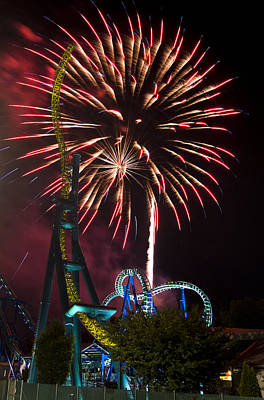 Photograph - Dorney Park On The 4th by Michael Dorn