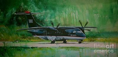Airways Painting - Dornier 328 Usairways Psa by William III