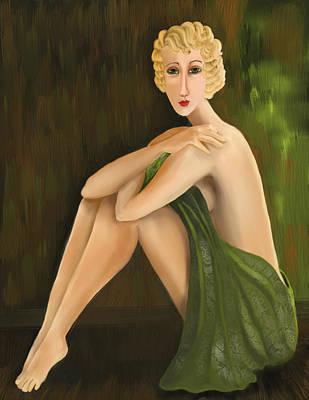 Hairstyle Digital Art - D'oro Verde by Sydne Archambault