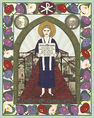 Works Of Mercy Painting - Dorothy Day Icon by David Raber