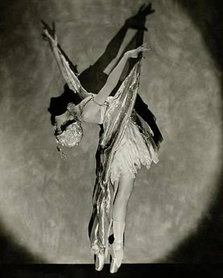 Profile Shadow Photograph - Dorothy Dilley In The Butterfly Dance by Nickolas Muray