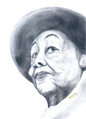 Drawing - Dorothy Height by Emmanuel Baliyanga