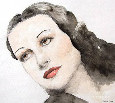 1950s Portraits Painting - Dorothy Lamour by Natalia Chaplin