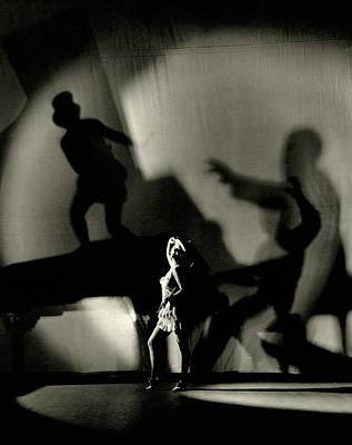 Shadow Dancer Photograph - Dorothy Mackaill With Ominous Shadows by Florence Vandamm