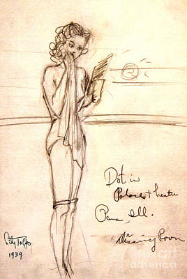Drawing - Dorothy Page In Hollywood Cowgirls' Dressing Room by Art By Tolpo Collection