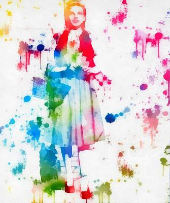 Dorothy Wizard Of Oz Paint Splatter Art Print by Dan Sproul