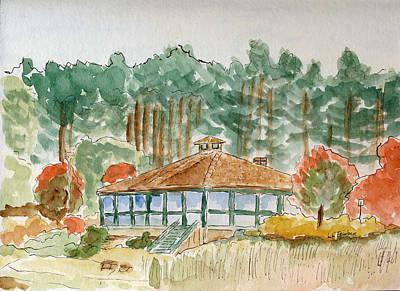 Dorrs Pondhouse Art Print