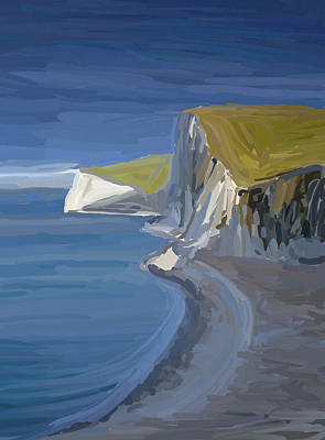 Painting - Dorset Cliffs by Eliza Donovan