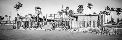 Dory Fish Market Newport Beach Panorama Photo  Art Print by Paul Velgos
