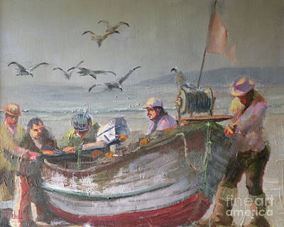Dory Fishermen Original by Ray Mitchell