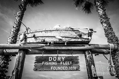 Dory Photograph - Dory Fishing Fleet Black And White Picture by Paul Velgos