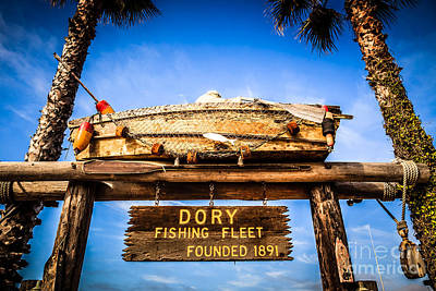 Dory Photograph - Dory Fishing Fleet Picture Newport Beach California by Paul Velgos