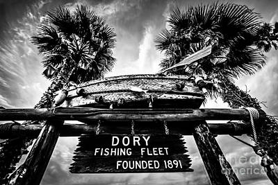 Balboa Peninsula Photograph - Dory Fishing Fleet Sign Picture In Newport Beach by Paul Velgos