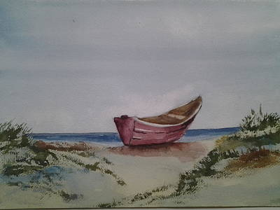 Painting - Dory On Beach by Tom Steiner