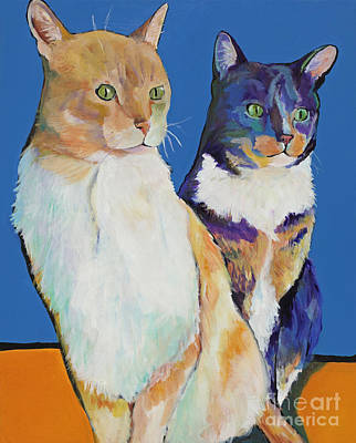 Dos Amores Art Print by Pat Saunders-White