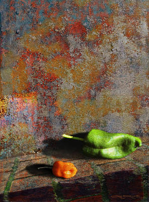 Patrick Painting - Dos Pimientos by Patrick J Osborne
