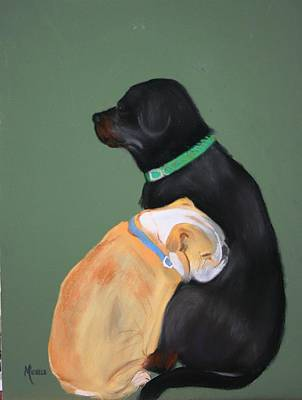 Doser And Cody Art Print by Michele Turney
