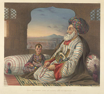 Afghanistan Photograph - Dost Mahommed King Of Caubul by British Library