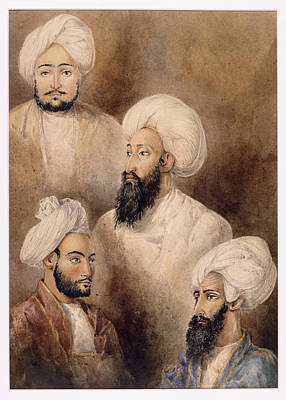 Dost Muhammad Khan & Family Art Print by British Library