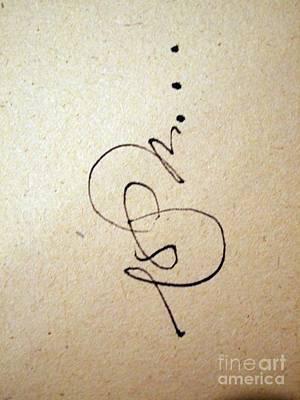 Calligraphic Drawing - Dot Dot Dot by Nancy Kane Chapman