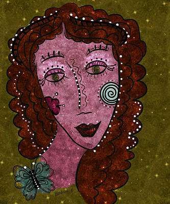 Art Print featuring the digital art Dot Me by Barbara Orenya