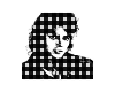 Michael Jackson - Dot Portrait Art Print