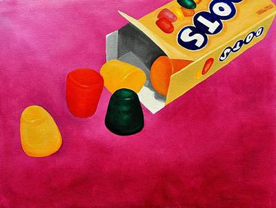 Candy Painting - Dots by Andrea Nally
