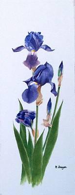 Dot's Iris Art Print