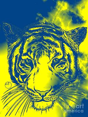 Dou Tone Tiger Art Print by Justin Moore