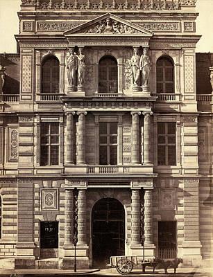 Louvre Drawing - Édouard-denis Baldus, Bibliothèque Imperiale Du Louvre by Quint Lox