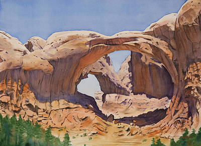 Double Arch Art Print by Christopher Reid
