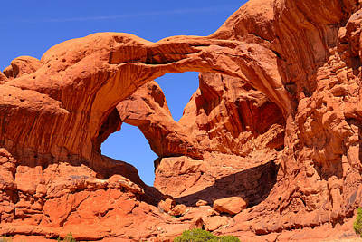 Photograph - Double Arch by Greg Norrell