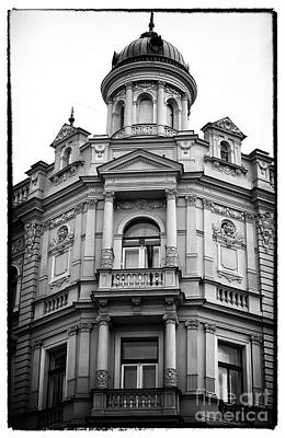 Prague Photograph - Double Balconies In Prague by John Rizzuto