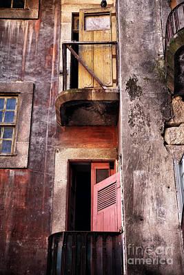 Photograph - Double Balcony In Porto by John Rizzuto
