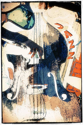 Musical Instrument Photograph - Double Bass Jazz Poster by Konstantin Sevostyanov