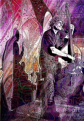 Photograph - Double Bass Silhouette  by Ian Gledhill