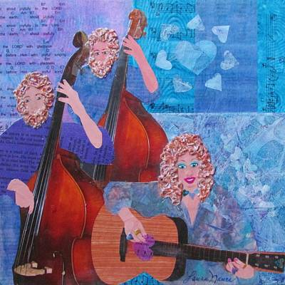 Double Bass With Six Strings Art Print by Laura Nance