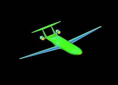 Simulation Photograph - Double Bubble D8 Aircraft Simulation by Nasa/ames (shishir Pandya)