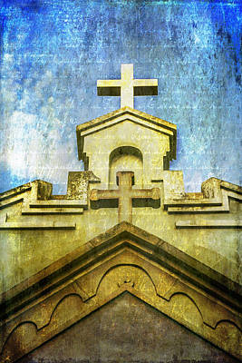 Photograph - Double Crosses With Texture by Karen Stephenson