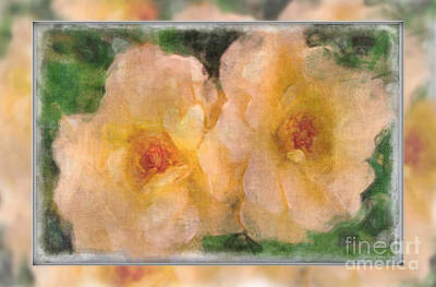 Photograph - Double Delight Blank Greeting Card by Debbie Portwood