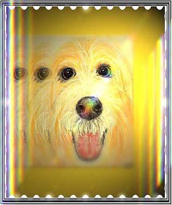 Double Dog Art Print by Desline Vitto